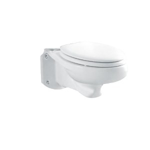American Standard 3402.016.020 Glenwall Elongated Wall-Mounted Toilet Bowl Only - White