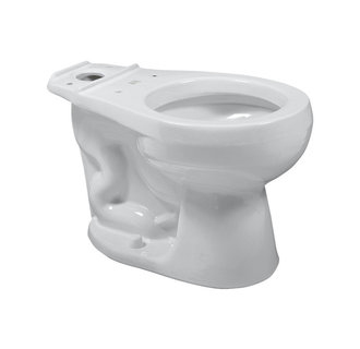 American Standard 3454.016 Round-Front Vitreous China Toilet Bowl Only - Silver