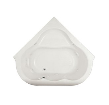 American Standard 6060VC Drop In Corner EverClean Whirlpool Tub - White
