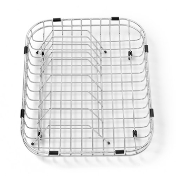 American Standard 8241.121500.075 Stainless Steel Dish Rack with Drain Basket - Stainless Steel