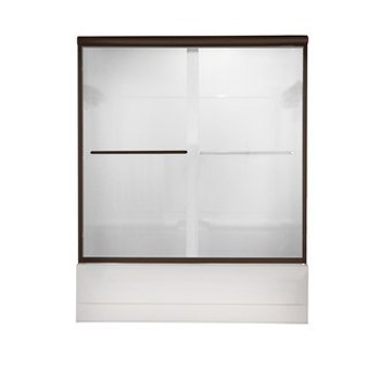 American Standard AM00350.400 Euro Clear Glass Frameless By-Pass Tub Doors - Oil Rubbed Bronze