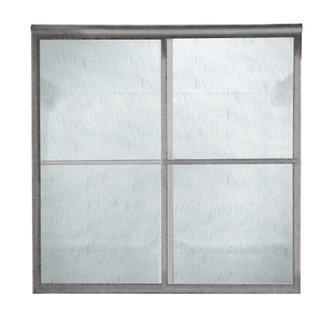 American Standard Am00770 422 Prestige Framed Rain Glass By Pass Shower Doors Brushed Nickel