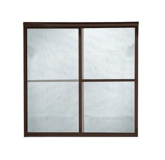 American Standard AM00770.422 Prestige Framed Rain Glass By-Pass Shower Doors - Oil Rubbed Bronze