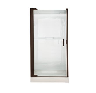 American Standard AM0305D.400 Euro Frameless Clear Glass Pivot Shower Door - Oil Rubbed Bronze