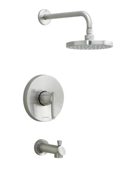 American Standard T010.502 Single Handle Tub and Shower Valve Trim Only - Stainless Steel