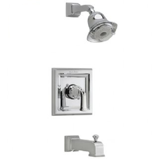 American Standard T555.528 Town Square Single Handle Tub and Shower Trim Only - Satin Nickel (Pictured in Polished Chrome)