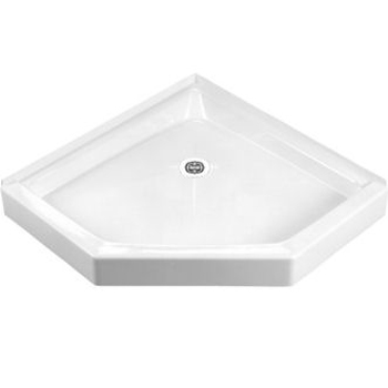 Crane Plumbing 36WLC-WH Cascade Shower Floor - White