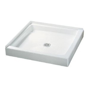 Crane Plumbing 36WLD-WH Cascade Shower Floor - White