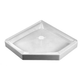 Crane Plumbing 38WLC-WH Cascade Shower Floor - White