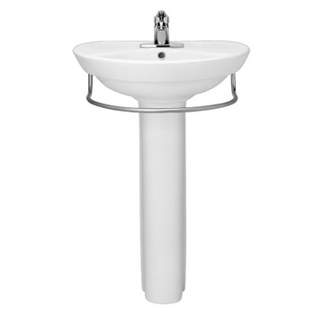 American Standard 0268.100.020 Ravenna Complete Pedestal Sink with Center Hole - White