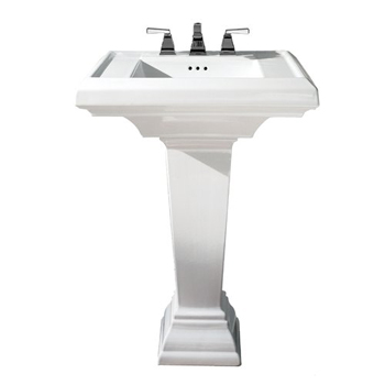 American Standard 0790.400.020 Town Square Complete Pedestal Sink - White