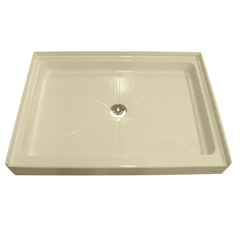 American Standard 6034.ST.021 Single Threshold Shower Base - Bone