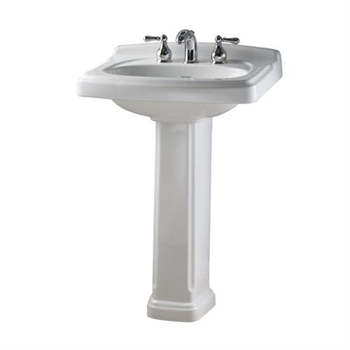 American Standard 734906-401.222 Portsmouth Pedestal Base Only - Linen (Pictured in White)