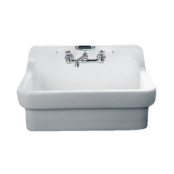 American Standard 9062.008 Country Sink Series Single Basin Vitreous China Kitchen Sink - White