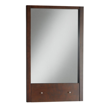American Standard 9435.101 Cascada Collection Vanity Mirror with Drop Down Shelf - Tobacco