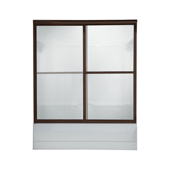 American Standard AM00750.400 Prestige Framed Clear Glass By-Pass Bath Doors - Oil Rubbed Bronze