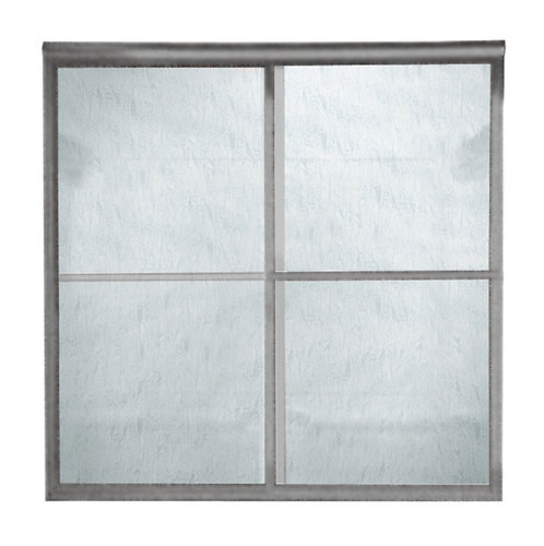 American Standard AM00790.422 Prestige Framed Rain Glass By-Pass Shower Doors - Brushed Nickel