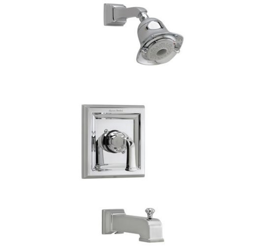 American Standard T555.528 Town Square Single Handle Tub and Shower Trim Only - Polished Chrome