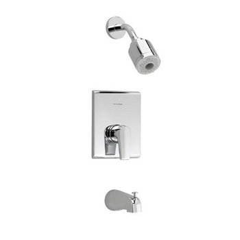 American Standard T590.508 Studio Single Handle Tub and Shower Trim Only - Polished Chrome