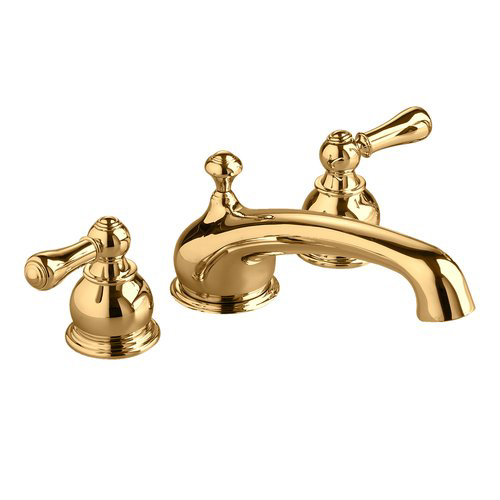 American Standard T970.732 Hampton Collection Double Handle Roman Tub Filler Faucet Trim Only - Polished Brass