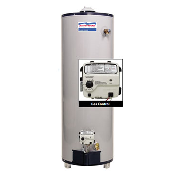 American Water Heater BFG61-50T40-3NOV 50 Gallon 40,000 BTU Residential Gas with Flame Guard Safety System Water Heater