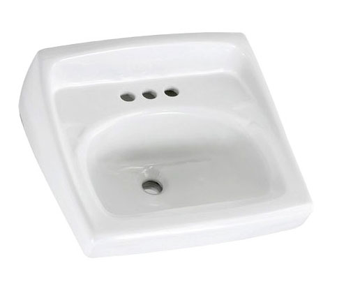 American Standard 0356.041.020 Lucerne Wall-Mount Sink (Single Center Faucet Hole) - White