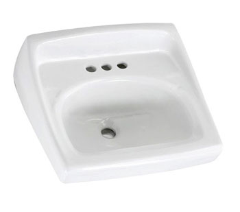 American Standard 0356.421.020 Lucerne Wall-Mount Sink (Single Center Faucet Hole) - White