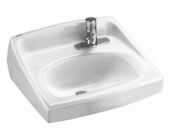 American Standard 0356.439.020 Lucerne Wall-Mount Sink (Single Faucet Hole on Right) - White