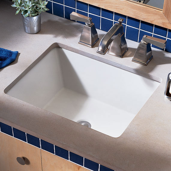 American Standard 0610.000.222 Boulevard Undercounter Lavatory - Linen (Pictured in White)