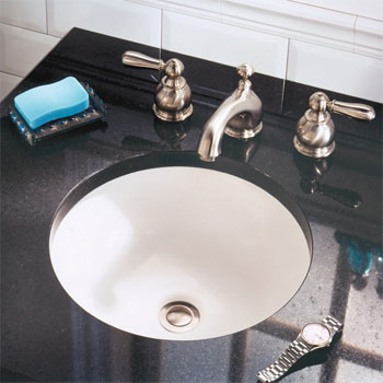 American Standard 0630.000.021 Orbit Undercounter Lavatory - Bone (Pictured in White)