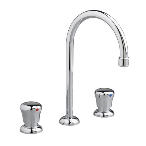 American Standard 1340.855.002 Metering Widespread Gooseneck Lavatory Faucet - Chrome
