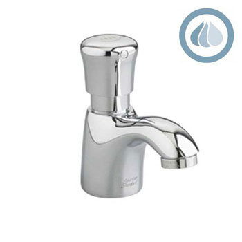 American Standard 1340.M105.002 Pillar Tap Metering Faucet with Mixing Valve - Chrome