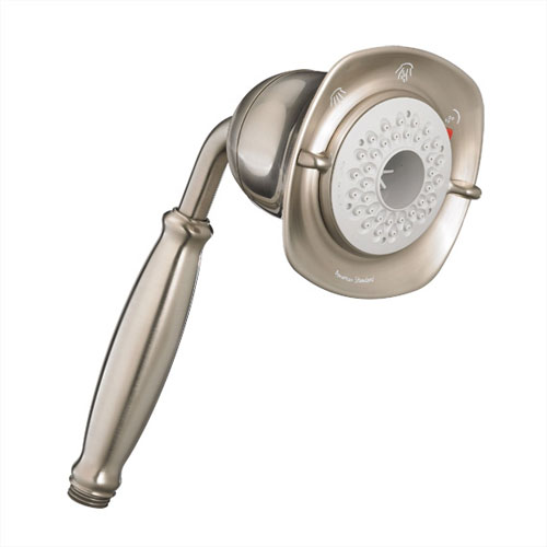 American Standard 1660.843.295 FloWise Square 3 Function Water Saving Hand Shower - Satin Nickel
