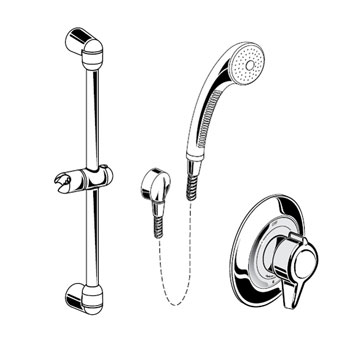 American Standard 1662.601.002 Complete Shower System Kit - Chrome