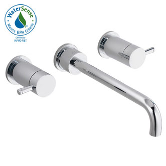 American Standard 2064.451.295 'One' Wall Mount Lavatory Faucet - Satin Nickel  (Pictured in Chrome)