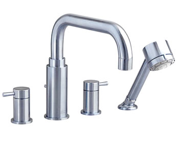 American Standard 2064.900.002 'One' Deck-Mount Tub Filler - Chrome