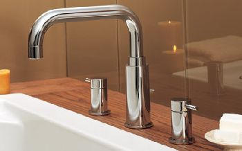 American Standard 2064.900.295 'One' Deck-Mount Tub Filler - Satin Nickel  (Pictured in Chrome)