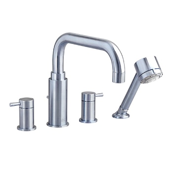 American Standard 2064.901.295 'One' Deck-Mount Tub Filler w/Personal Shower - Satin Nickel  (Pictured in Chrome)