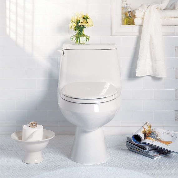 American Cadet Round Front One Piece Toilet White