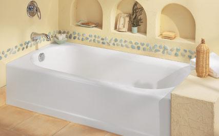 American Standard 2393.202.020 Princeton Americast Recess Bath, AFR, RHO - White