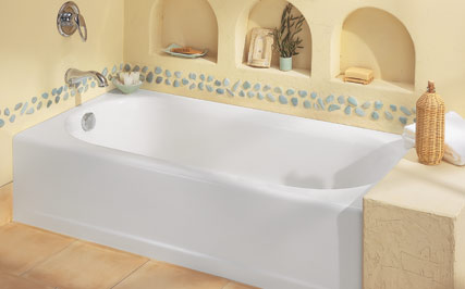 American Standard 2395.202.020 Princeton Americast Recess Bath with Luxury Ledge, RHO - White