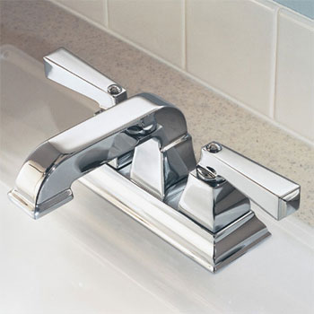 American Standard 2555.201.295 Town Square Lavatory Centerset Faucet - Satin Nickel (Pictured in Chrome)
