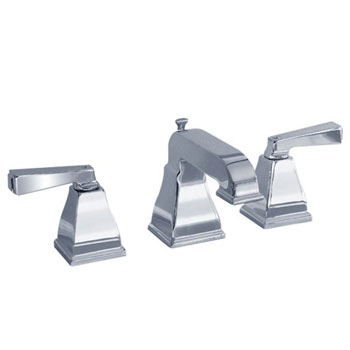 American Standard 2555.801.002 Two Lever Handle Widespread Lavatory Faucet - Polished Chrome