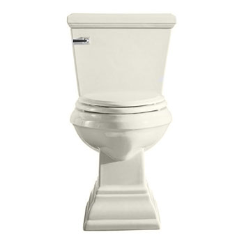 American Standard 2787.016.222 Town Square Round Front Two-Piece Toilet - Linen