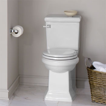 American Standard 2817.016.020 Town Square Concealed Trapway Elongated Toilet - White
