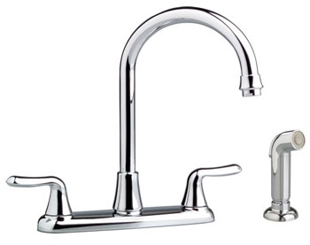 American Standard 4275.551.002 Colony Soft Gooseneck Kitchen Faucet With Side Spray - Chrome