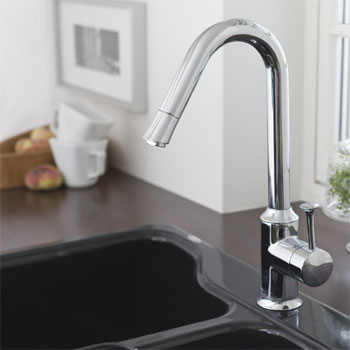 American Standard 4332.310.002 Pekoe Hi-Flow Pull-Down Kitchen Faucet - Chrome