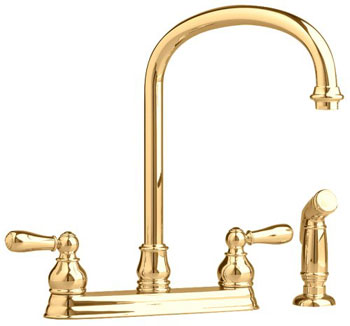 American Standard 4771.732.295 Hampton Top-Mount Kitchen Faucet- Satin Nickel  (Pictured in Polished Brass)