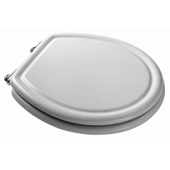 American Standard 5265.295.178 Traditional Champion 4 Slow Close Round Front Toilet Seat - Black (Pictured in White)