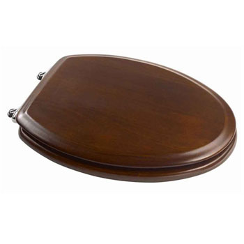 American Standard 5314.295.329 Boulevard Elongated Wood Finish Toilet Seats - Warm Walnut